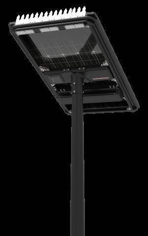 HC840AE5S180V12B90L60 - Solar Street Light AE5 Black Ultron, 180W PV, 2*30W Cree LED