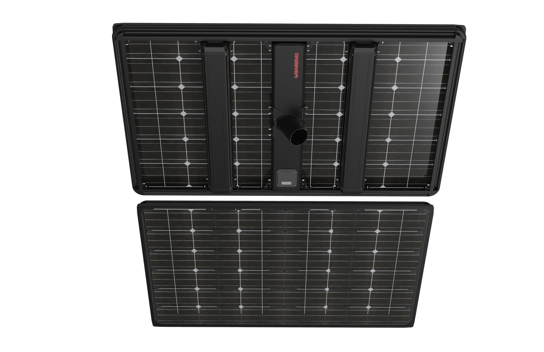 HC841AE6S130V12B58 - Solar Street Light AE6 Black Ultron Split Type, 130W PV Module